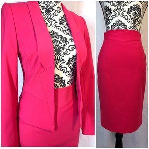 Antonio Melani Pink Jacket and Skirt Suit